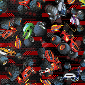 PRE ORDER - Blaze Monster Trucks - Digital Fabric Print