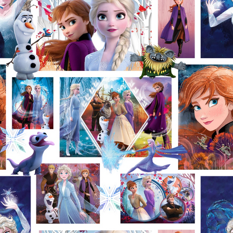 PRE ORDER - Frozen Puzzle - Digital Fabric Print