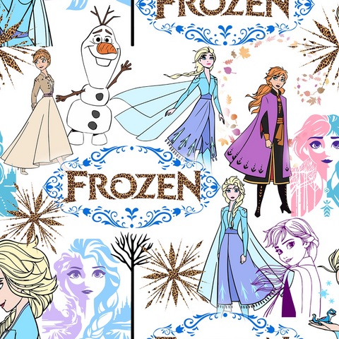 PRE ORDER - Frozen Sketches - Digital Fabric Print