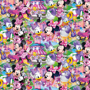 PRE ORDER - Besties Minnie & Daffy - Digital Fabric Print