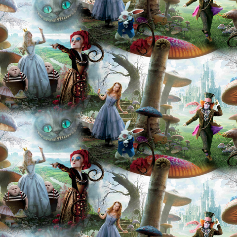 PRE ORDER - Alice through the Looking Glass - Digital Fabric Print