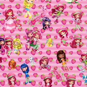PRE ORDER - Strawberry Shortcake Adventures Pink - Digital Fabric Print