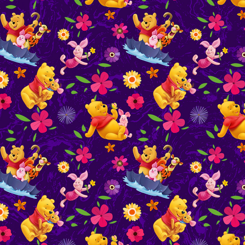 PRE ORDER - Winnie Adventures Purple - Digital Fabric Print