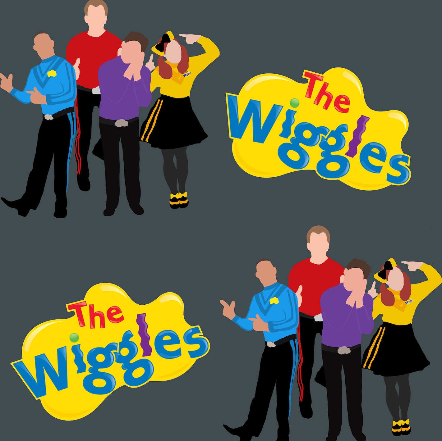 PRE ORDER - Wiggles Dance - Digital Fabric Print