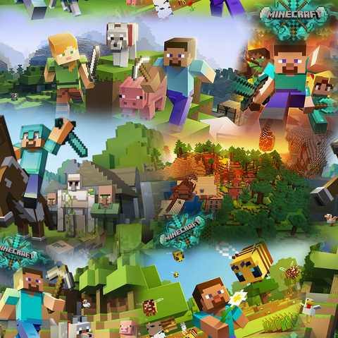 PRE ORDER - Minecraft - Digital Fabric Print