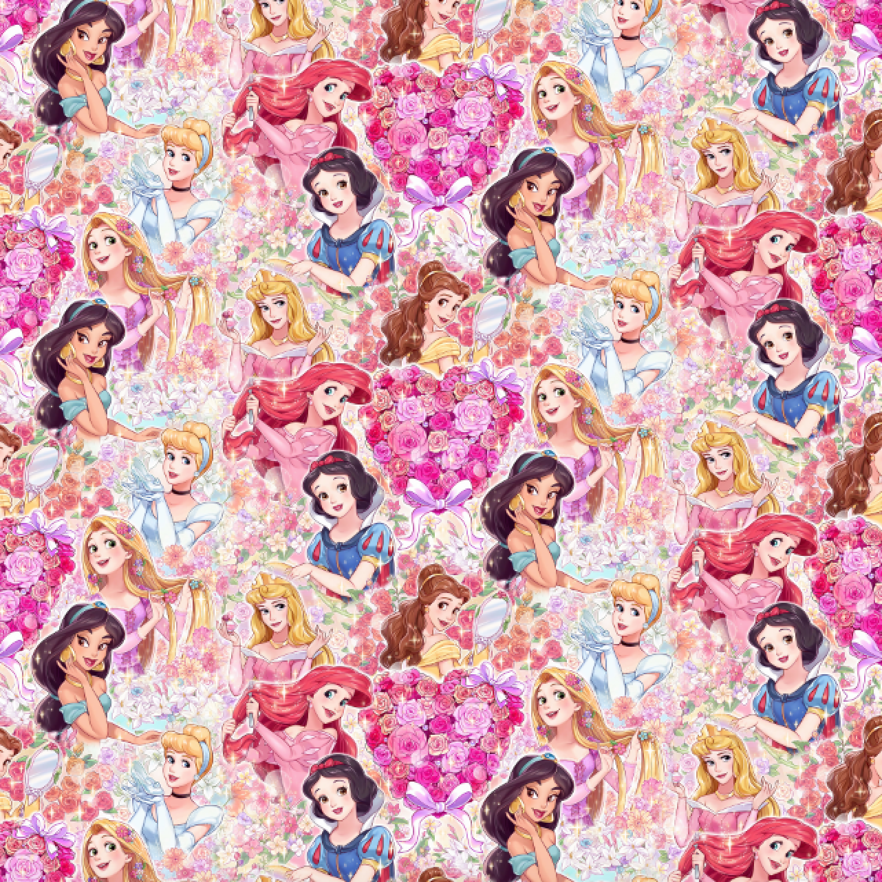PRE ORDER - Princesses in the Garden - Digital Fabric Print
