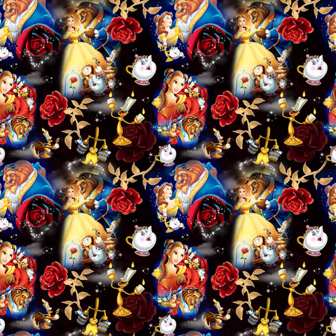 PRE ORDER - Belle's Adventure Black - Digital Fabric Print