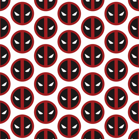 PRE ORDER - Deadpool Logo - Digital Fabric Print