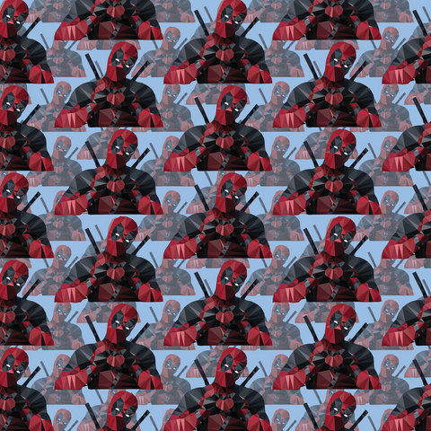 PRE ORDER - Deadpool Blue - Digital Fabric Print