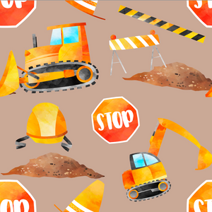 PRE ORDER - Little Construction Workers - Digital Fabric Print