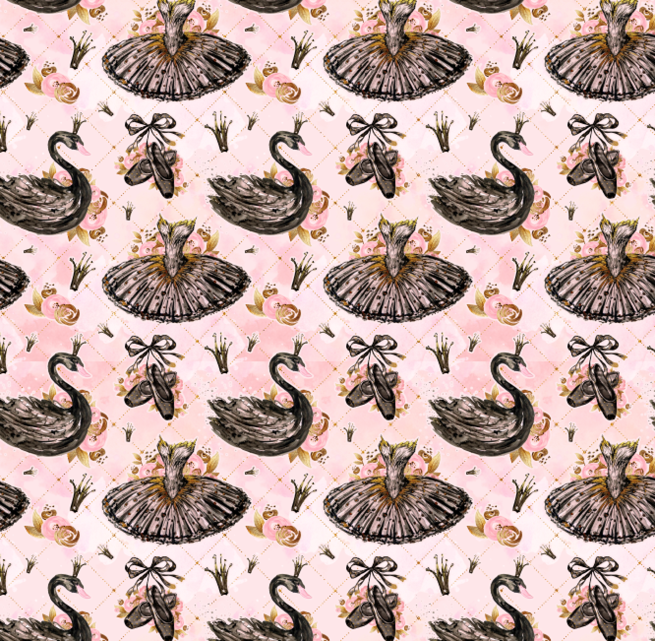 PRE ORDER Swan Lake - MM Fabric Print