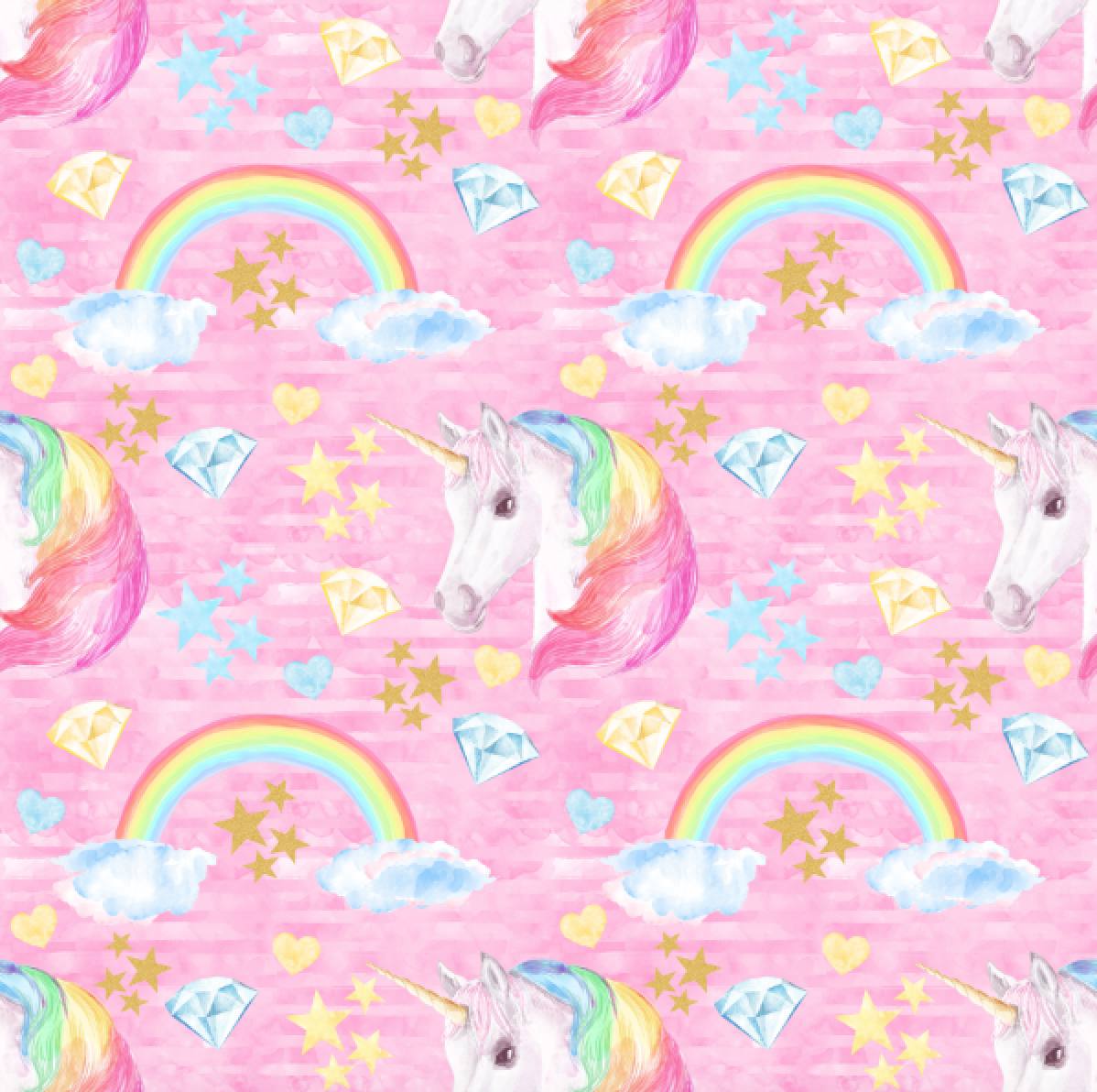 PRE ORDER Pink Unicorn Dreams - MM Fabric Print