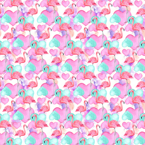 PRE ORDER Flamingo Hearts - MM Fabric Print