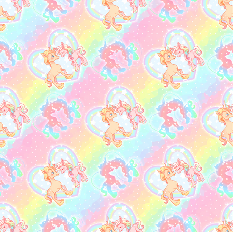 PRE ORDER - Rainbow Unicorns - Digital Fabric Print