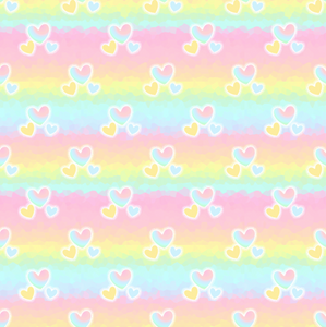 PRE ORDER Rainbow Hearts - MM Fabric Print