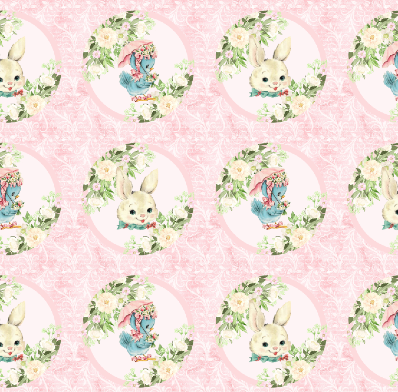IN STOCK - Vintage Easter - WOVEN COTTON