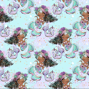 PRE ORDER Little Mermaids & Fishies - MM Fabric Print