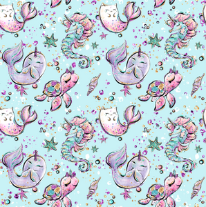 PRE ORDER Christmas Ocean Friends Fabric