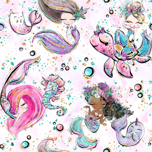 IN STOCK - Little Mermaids - WOVEN COTTON