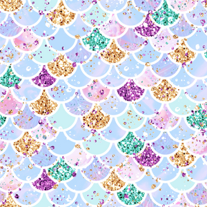 IN STOCK - Little Mermaid Scales - WOVEN COTTON