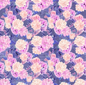PRE ORDER Winter Floral Purple Large - Digital Fabric Print