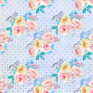 PRE ORDER Magical Roses Blue - Digital Fabric Print