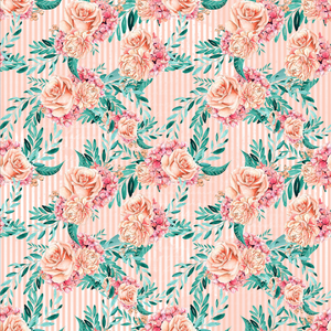 PRE ORDER Winter Floral Coral - Digital Fabric Print