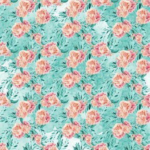 PRE ORDER Winter Floral Green - Digital Fabric Print