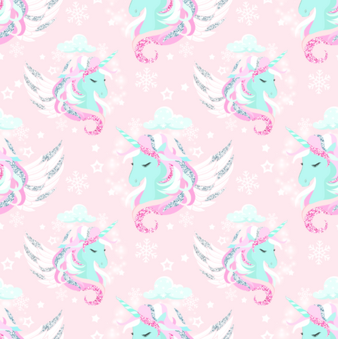 PRE ORDER Winter Wonderland Unicorns - Digital Fabric Print