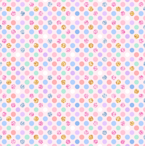 PRE ORDER Magical Christmas Dots - Digital Fabric Print