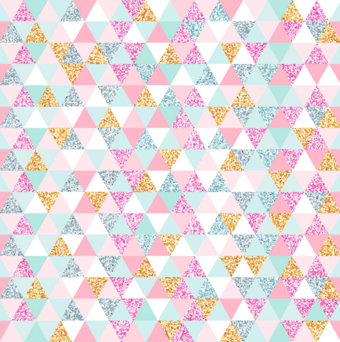 IN STOCK - Magical Christmas Triangles - Digital Fabric Print