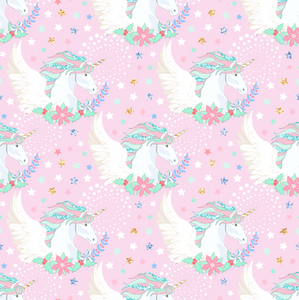 PRE ORDER Magical Christmas Angels Pink - Digital Fabric Print