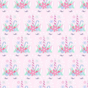 PRE ORDER Magical Christmas Sleeping Unicorns - Digital Fabric Print