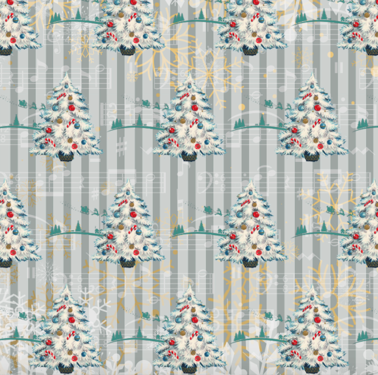 PRE ORDER Oh Christmas Tree - Digital Fabric Print