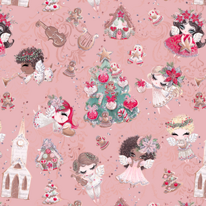 PRE ORDER Holly Jolly Pink Fabric