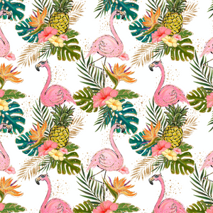 PRE ORDER Tropical Vibes Flamingo White