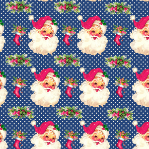 IN STOCK - Cheeky Santa Navy - WOVEN COTTON