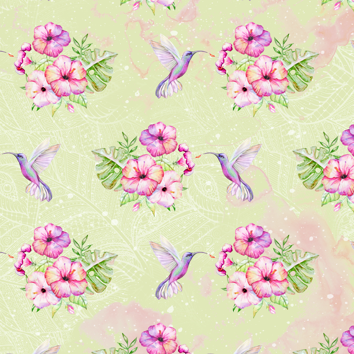 PRE ORDER Hummingbird Green Fabric