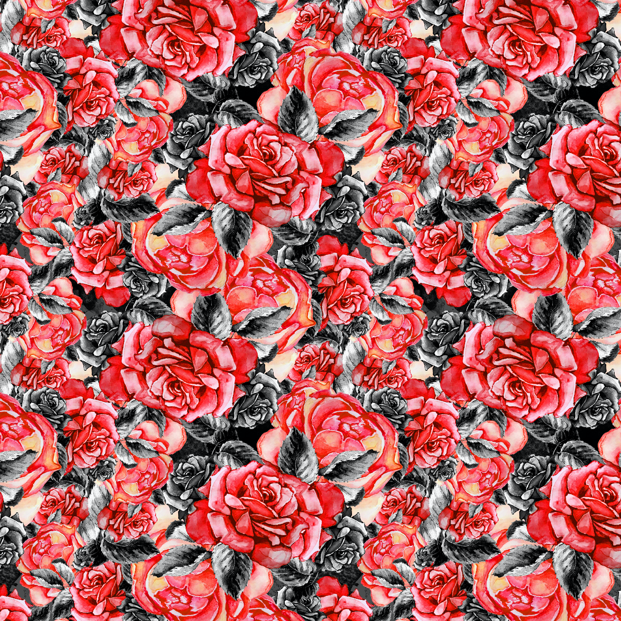 IN STOCK - Marilyn Monroe Roses - WOVEN COTTON