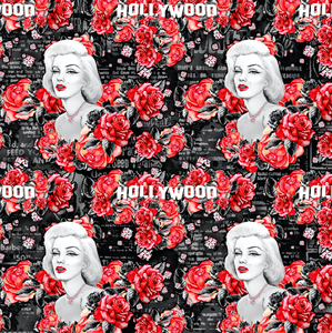 IN STOCK - Marilyn Monroe Main Black Fabric