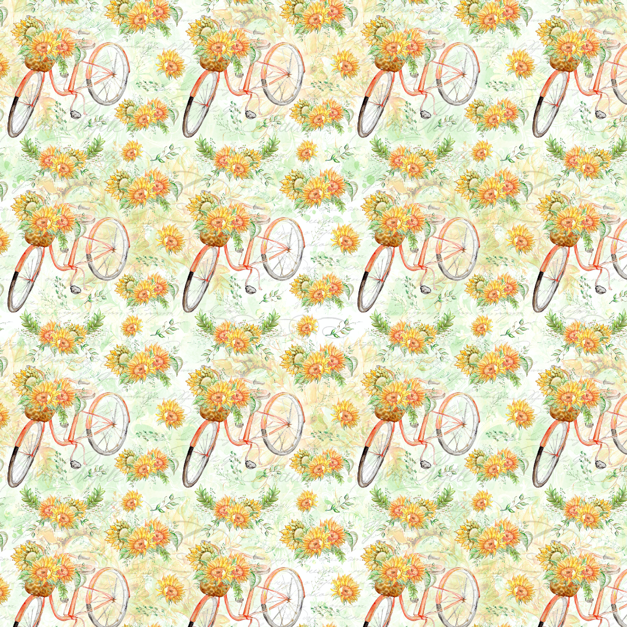 PRE ORDER Sunflower Bicycles Fabric