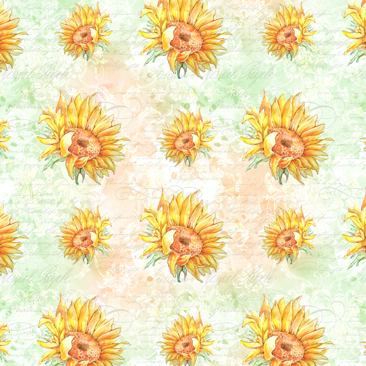 PRE ORDER Sunflowers Large Fabric