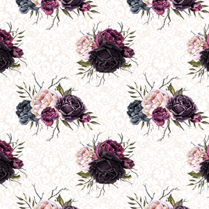 PRE ORDER - Witches Garden Black Roses in White Fabric