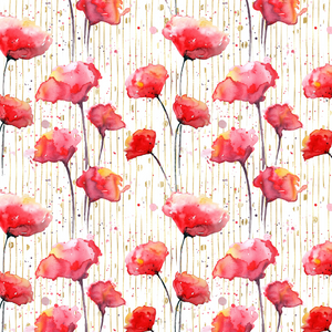 PRE ORDER Lest We Forget Poppies Red Fabric