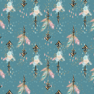 PRE ORDER - Woodland Babes Blue Arrows - Fabric