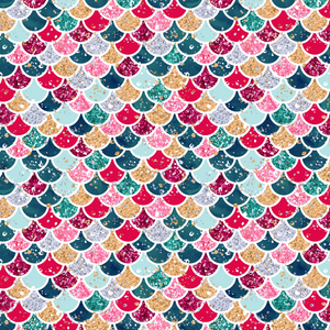 PRE ORDER Christmas Mermaid Scales Fabric