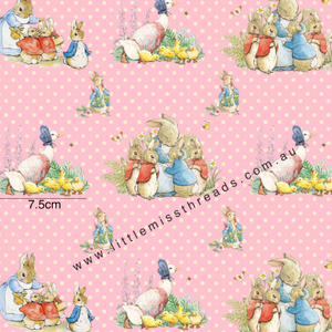 PRE ORDER Peter Rabbit in Pink Fabric