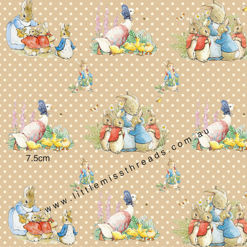 PRE ORDER Peter Rabbit in Coffee Fabric