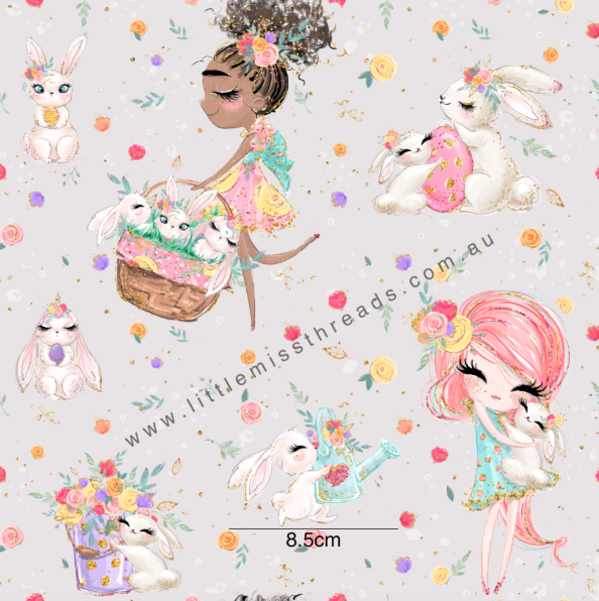 PRE ORDER Easter Wonderland Grey Fabric