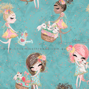 PRE ORDER Easter Wonderland Blue Fabric
